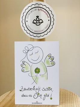 """Wunderschöne kleine Seelenfreuden Premium-Karten in DIN A7  """"Zauberhaft schön, dass es Dich gibt"""""""