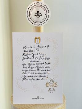"""Wunderschöne -Premium-Postkarte  """"Du bist ein Geschenk für diese Welt. Einzigartig und richtig!"""""""