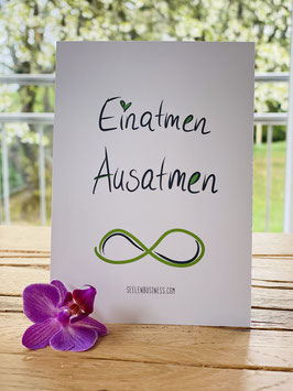 "Wunderschöne Postkarte ""Einatmen Ausatmen"""