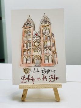 Wunderschöne Premium Postkarte Grüße aus Limburg an der Lahn