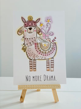"Postkarte ""NO MORE DRAMA"""