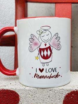 "Mannebach-Tasse "" I love Mannebach!"""