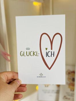 Wunderschöne Premium Postkarte GLÜCKL-ICH