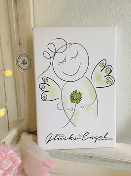 "Wunderschöne Fotoleinwand ""Glücks-Engel"""