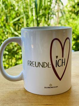 """Wunderschöne Tasse aus der HERZ-ICH Kollektion """"FREUNDL-ICH"""""""
