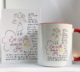 Tasse und Postkarte So schön, dass es mich gibt