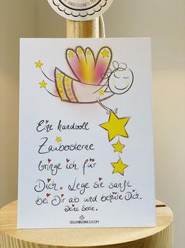 """Wunderschöne Premium-Postkarte """"Eine handvoll Zaubersterne"""""""