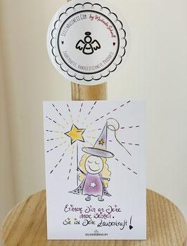 """Wunderschöne kleine Seelenfreunden-Premium-Karten in DIN A7   """"Erinnere Dich an Deine innere Weisheit, sie ist Deine Zauberkraft!"""""""