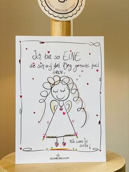 """Wunderschöne Premium-Postkarte in DIN A6 """"Ich bin so EINE die sich auf IHREN Weg gemacht hat!"""""""