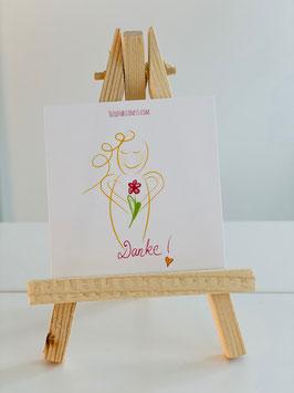 "Wunderschöne Mini-Karte ""DANKE"""