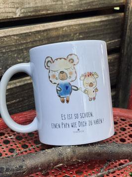"""Wunderschönes Tassen und Postkartenset """" Es ist so schön, einen Papa wie Dich zu haben!"""""""