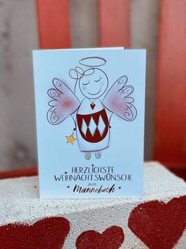 Herzliche Weihnachtswünsche aus Mannebach <3 KLAPPKARTE