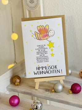 """Premium Klapp-Karte """"Himmlische Weihnachten!"""""""