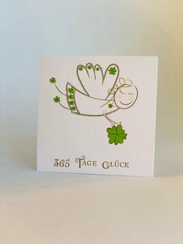 Süsse Mini-Karte 365 Tage Glück ( 10 Stück)