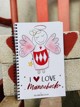 """Wunderschönes Notizbuch  """"I love Mannebach!"""" mit Kalender für 2021"""