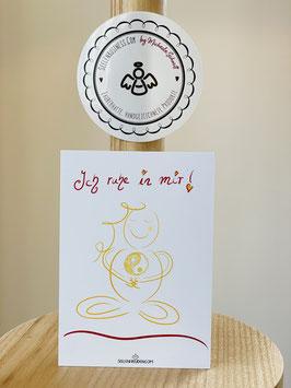 """Wunderschöne kleine Seelenfreuden Premium-Karten in DIN A7  """"Ich ruhe in mir!"""""""