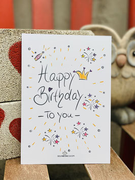 "WUNDERSCHÖNE POSTKARTE  ""Happy Birthday!"""