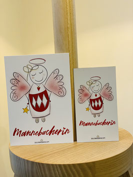 """Wunderschönes Magnet """"Mannebacherin!"""" plus DIN A7 Karte"""