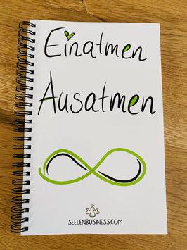 """Wunderschönes Notizbuch/Tagebuch """"Einatmen,Ausatmen mit Kalenderfunktion"""
