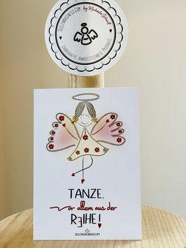 """Wunderschöne kleine Seelenfreuden Premium-Karten in DIN A7   """"Tanze, vor allem aus der Reihe!"""""""