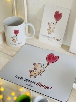 """Wunderschönes und bezauberndes Mousepad """"Folge Deinem Herzen!"""""""