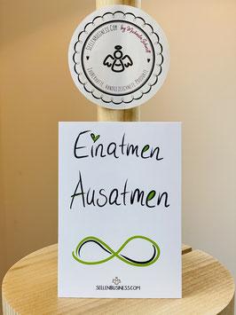"""Wunderschöne kleine Seelenfreuden Premium-Karten in DIN A7   """"Einatmen-Ausatmen !"""""""