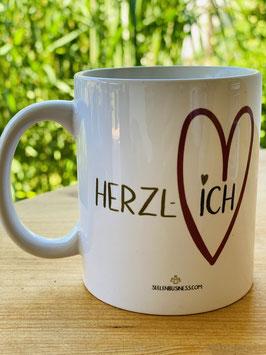 """Wunderschöne Tasse aus der HERZ-ICH Kollektion """"HERZL-ICH"""""""