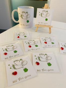 10 Wunderschöne kleine Mini-Karten die 365 Tage Glück wünschen, einzeln verpackt