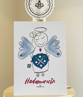 """Wunderschöne Premium-Postkarte  """"HADAMARERIN"""""""
