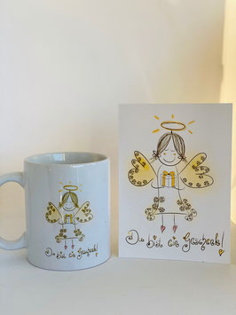 """Tasse und Postkarte """"Du bist ein Geschenk!"""""""