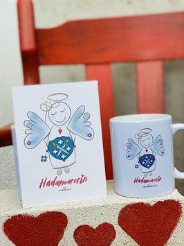 """Wunderschöne Tasse """"HADAMARERIN"""" Heimatliebe"""