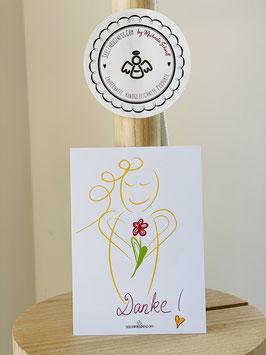 """Wunderschöne kleine Seelenfreuden Premium-Karten in DIN A7 die Liebe und Achtsamkeit in die Welt tragen möchten.   """"DANKE!"""""""