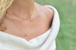 Halskette mit vielen Kugäli vergoldet art nr. H/A 131