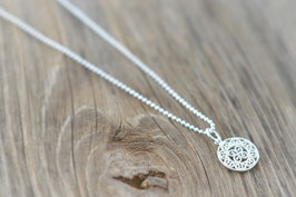 Silberhalskette kurz mit Amulettanhänger  Art. Nr. H/A 21