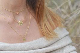 Halskette gold Blumenscheibe fest art nr. GH 7