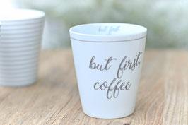 Krasilnikoff Tasse mug BUT FIRST COFFE art nr. K 29