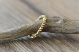Silberfingerring  vergoldet mit vielen Punkten  art nr. Fr 19