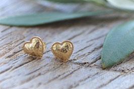 Gold Ohrstecker Pinksand Heart art nt. Go 95