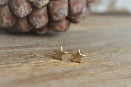 gold Ohrstecker stern mini matt art nr. Go 53