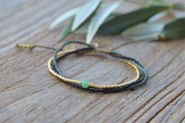 Bloom Aventurin Gold bracelet a beautiful Story  art nr. Ba 50