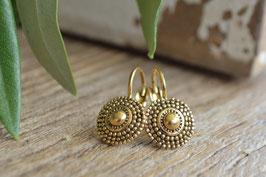 Gold Ohrenhänger shell mini une lignue art nr. Go 52