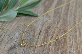 Halskette gold  unregelmässig mit einem  kugeli art nr. GH 14