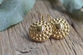Ohrenhänger gold  shell Pink sand art nr. Go 29
