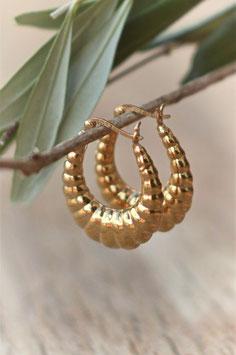 Gold Ohrencreolen chloe art nr. Go 100