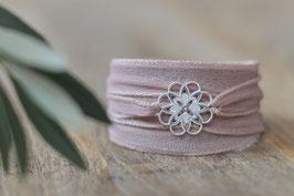 SALE Seidenarmband mit Blume durchbrochen Art. Nr. A 362