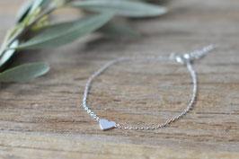 Silberarmkette mit Herzli ganz fein A 359