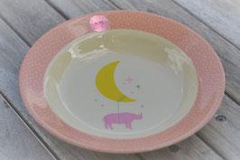 SALE Rice Suppenteller blau mit Bär oder rosa mit Mond Art. Nr. RI55
