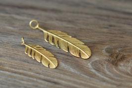 Federanhänger Silber vergoldet in zwei Grössen Art. Nr. H /A 52