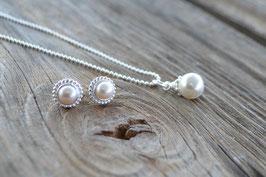 Perlen Set Halskette mit Ohrstecker Art nr. SK 49