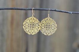 Ohrenhänger Amulett vergoldet  Art. Nr. OS 15